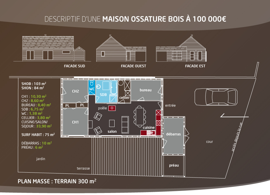 Maison 100 000 euros c est possible klg architecte for Maison 100 000 euros bois